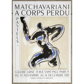 1985 Henri Matchavariani Paris Galerie Grise Exhibition Poster For Sale