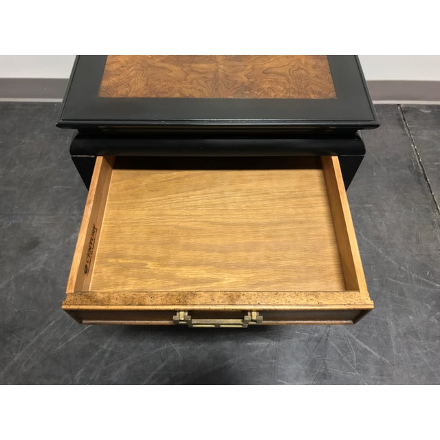 Century Chin Hua by Raymond K Sobota Burl Wood & Lacquer End Side Table 2 For Sale - Image 10 of 12
