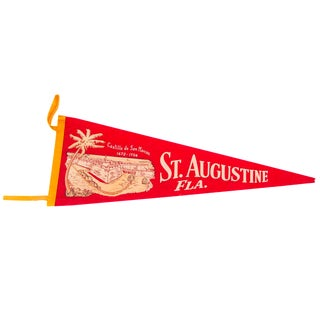 Castillo de San Marcos St Augustine Florida Felt Flag For Sale
