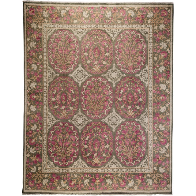 """Oushak, Hand Knotted Area Rug - 8' X 10'4"""" For Sale"""