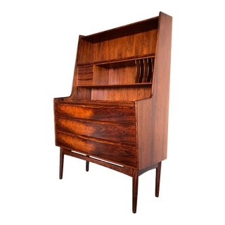 Mid-Century Rosewood Secretary Desk For Sale
