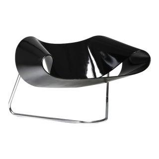 Black Ribbon Chair by Franca Stagi for Bernini - 1961 For Sale