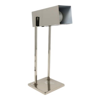 Vintage Mid-Century Modern Chrome Desk Lamp For Sale
