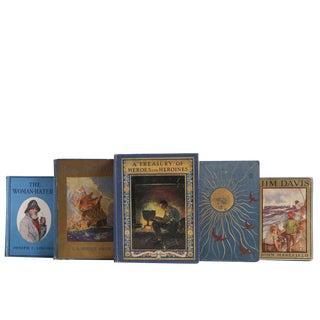 Vintage Adventures Decorative Books - Set of 5