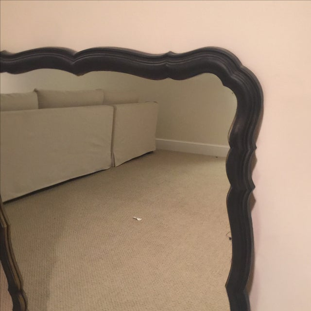 Traditional Black and Gold Scalloped Mirror For Sale - Image 7 of 11