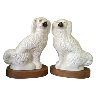 Large Staffordshire Dogs Figurines - Pair For Sale