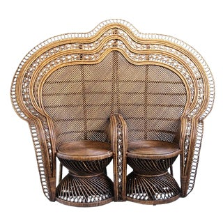 Double Peacock Chair For Sale