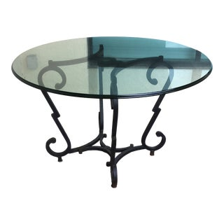 French Wrought Iron Ralph Lauren Table For Sale
