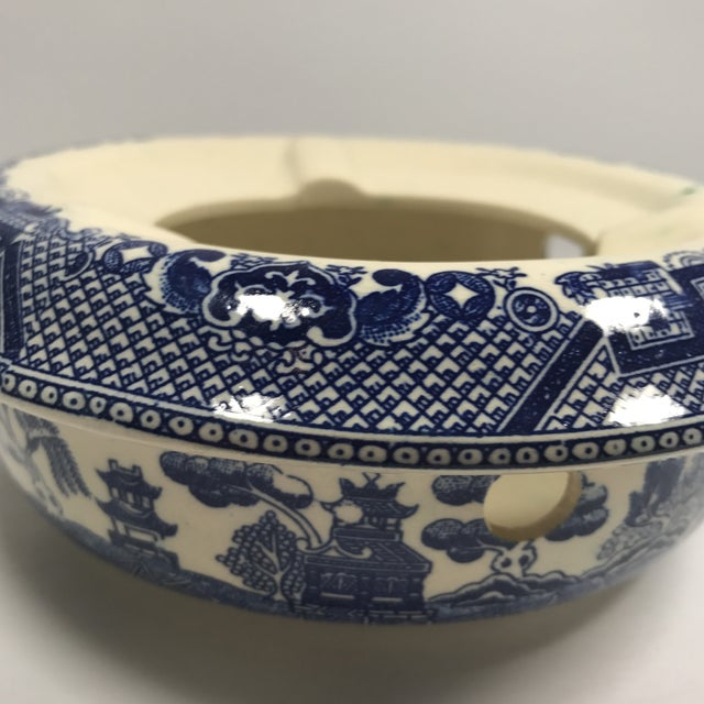 Vintage Blue Willow Warmer For Sale - Image 10 of 10
