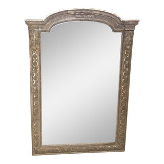 Mid 19th Century French Period Hand Carved Gold Gilt Neoclassical Mirror For Sale