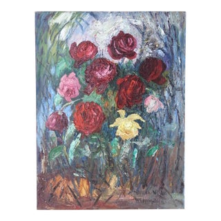 """""""Des Roses"""" Oil Painting For Sale"""