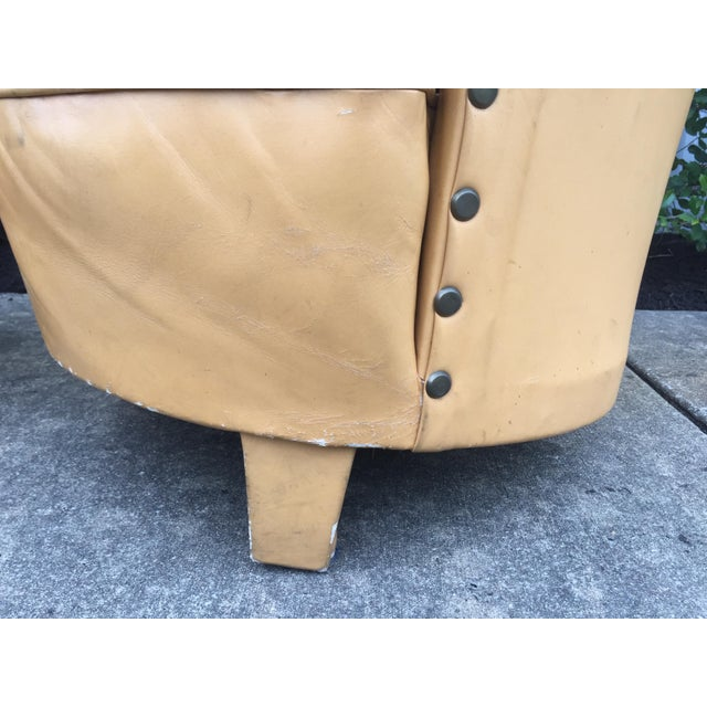 Vintage Spanish Barrel Back Leather Chairs- a Pair For Sale In Nashville - Image 6 of 13
