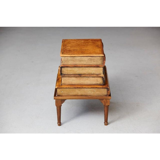 Italian 'Faux Stacked Leather Volume' Low Table For Sale - Image 4 of 9