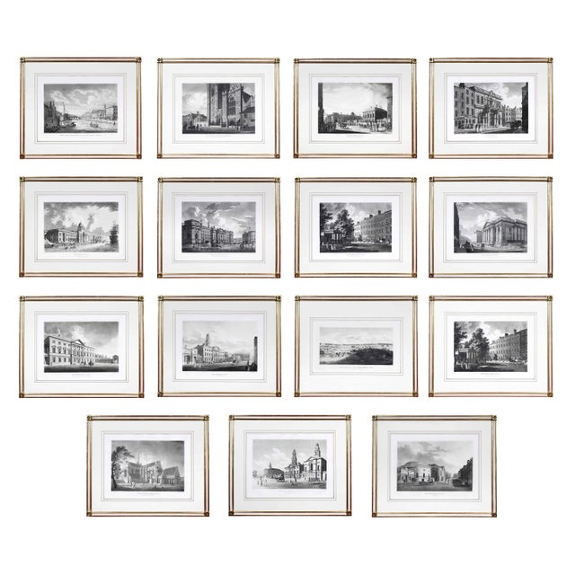 Engraved Views of Dublin Ireland by James Malton - Set of 25 For Sale - Image 13 of 13