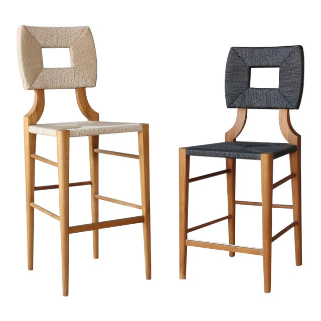 Outdoor How to Marry a Millionaire Counter or Barstool in Charcoal or Sand For Sale