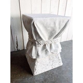 Tromp L'oeil White Faux Plaster Pedestal After John Dickinson Preview