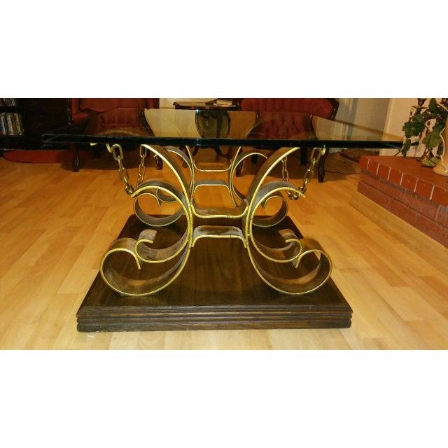 Vintage Kroehler Glass Top Coffee Table - Image 4 of 7