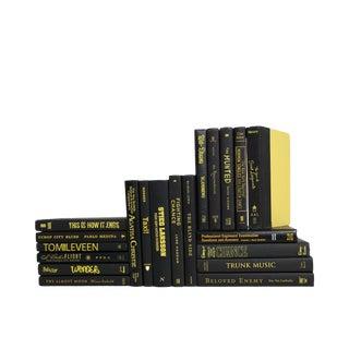 Retro Black & Yellow Decorative Books - Set of 20 For Sale