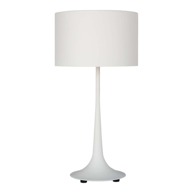 Trilogy Table Lamp in White For Sale
