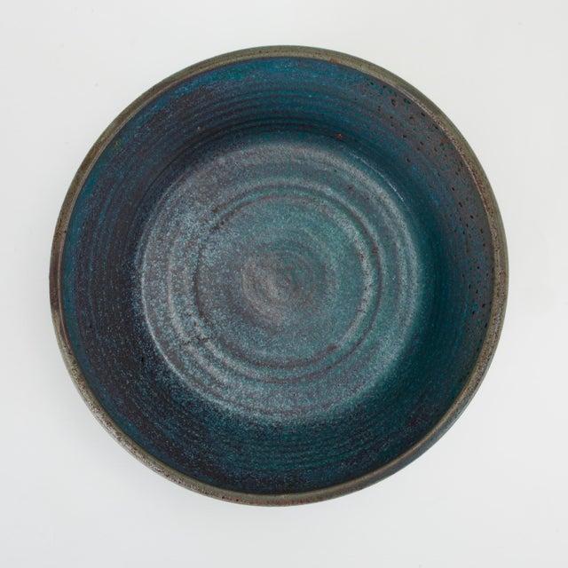 Blue Blue Studio Pottery Serving Bowl For Sale - Image 8 of 12