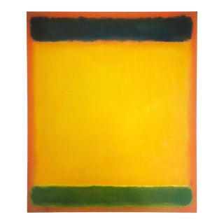 "Mark Rothko Vintage Lithograph Print Abstract Expressionist Poster "" Untitled ( Blue, Yellow, Green on Red ) 1954 For Sale"