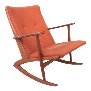Soren Georg Jensen Teak Rocking Chair