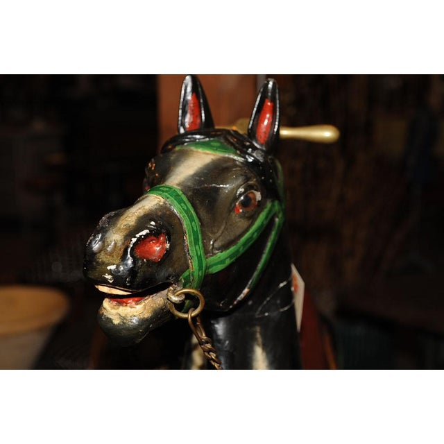 French Antique Carved & Painted Carousel Horse For Sale - Image 5 of 8