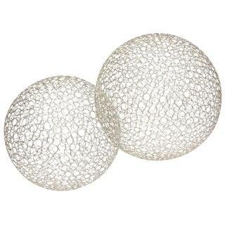 Pair of Sculptural Interweaved Balls