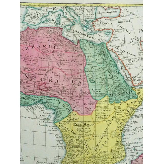 1778 Africa Map by Lotter For Sale - Image 9 of 10