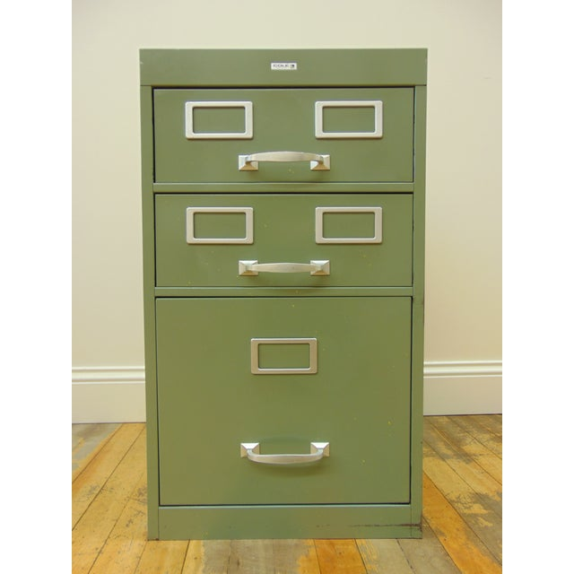 Cole industrial light green metal file cabinet chairish cole industrial light green metal file cabinet image 2 of 8 malvernweather Image collections