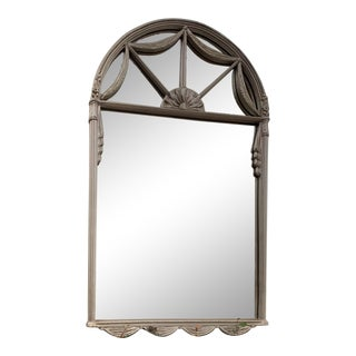 Traditional Large Silver Eclectic Mirror For Sale