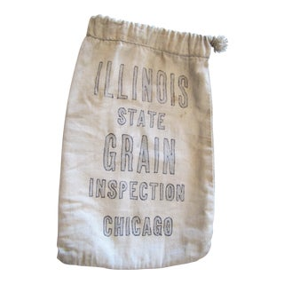 Chicago Illinois Grain Inspection Sample Canvas Bag