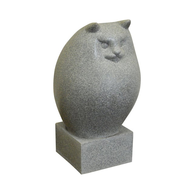 richard recchia mid century modern fat persian cat sculpture chairish