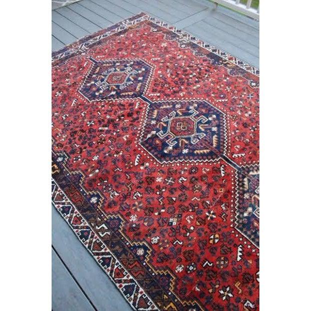 "Vintage Persian Shiraz Rug - 6' X 9'2"" - Image 4 of 9"