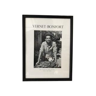 Vernet-Bonfort France C.1960's Printed Photo Image 10 X13 Framed For Sale