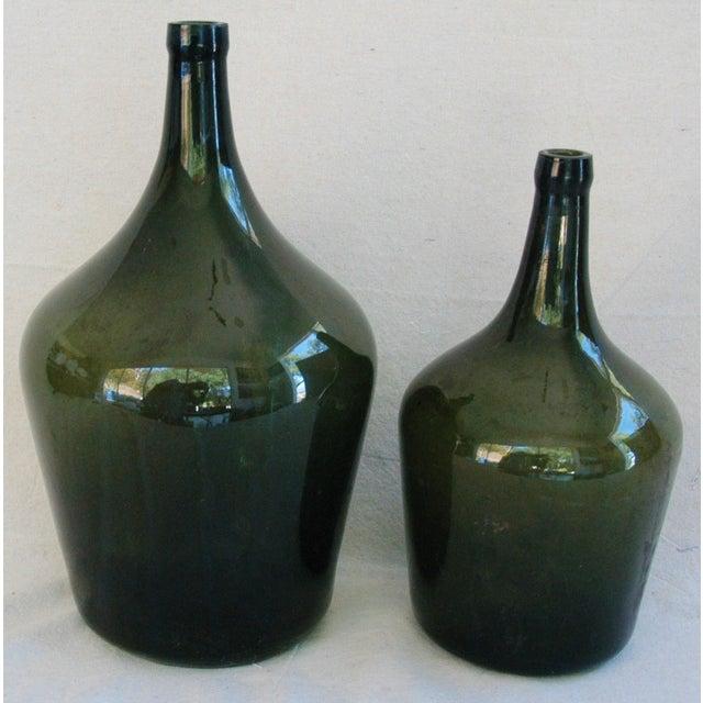 French Handblown Demijohn Bottles - Pair - Image 3 of 5