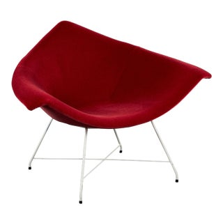 Rare Augusto Bozzi for Fratelli Saporiti Chair in Ruby Mohair on Wire Base For Sale