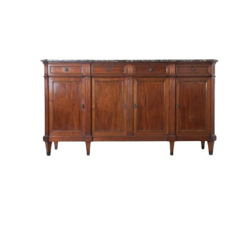 French Late 19th Century Louis XVI Style Mahogany Enfilade with Marble Top