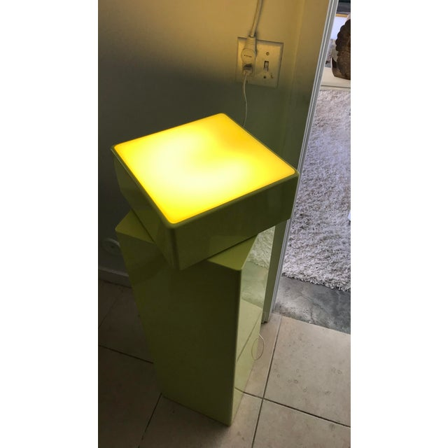 1970s Vintage Illuminated Pedestals - Two Pedestal Different Size For Sale - Image 12 of 12