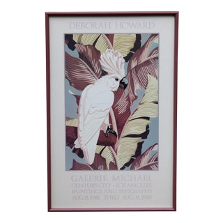 "Vintage Art Gallery Advertisement ""Cockatoo"" Framed Poster For Sale"