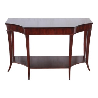 Barbara Barry for Baker Furniture Dark Mahogany Console or Sofa Table For Sale