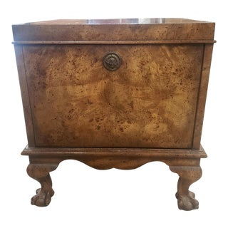 1960s Italian Burl Wood SIde Table For Sale