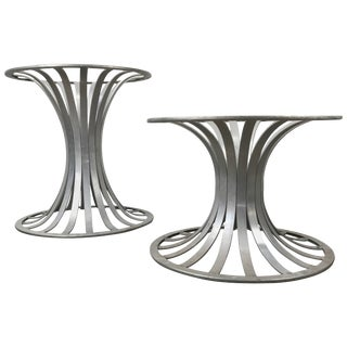 Woodard Aluminum Table Bases or Pedestals - a Pair For Sale