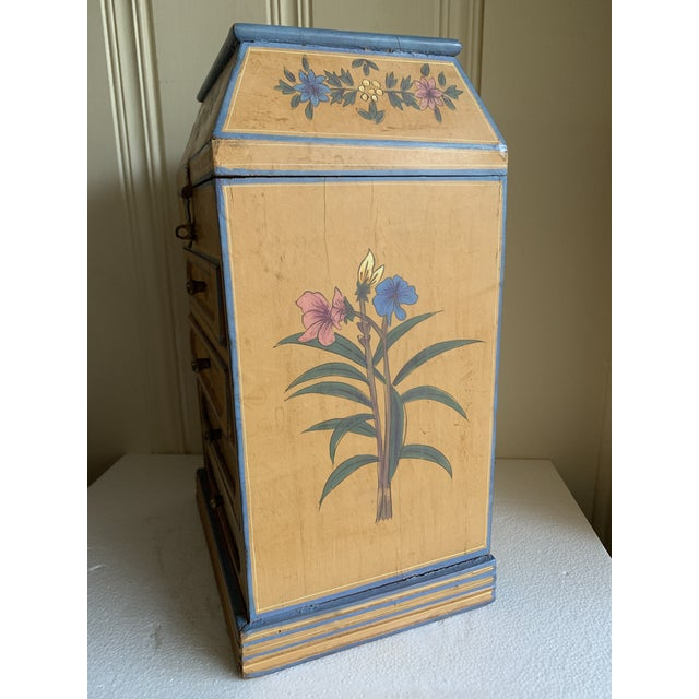 1990s Boho Rustic Chic Jewelry Organizer Box For Sale - Image 5 of 13
