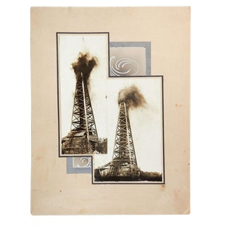 1914 Oklahoma Oil Well Gusher Photographs For Sale