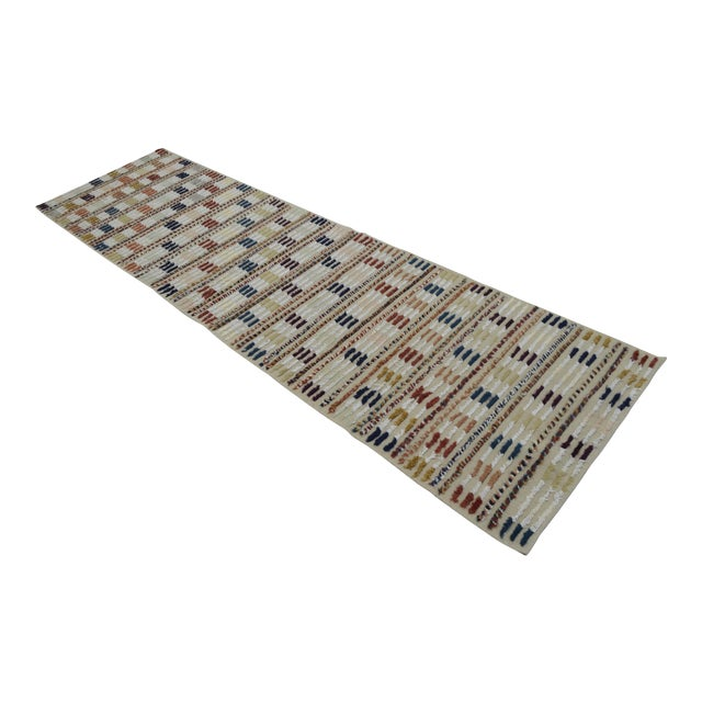 Hand Knotted Oushak Runner Rug - 2′8″ X 9′10″ - Image 1 of 10