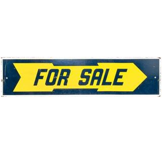 "Two-Sided Wood ""For Sale"" Sign"