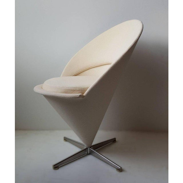 'Cone Chair' designed 1957 by Verner Panton. This is an early example that is in very good original condition with the...