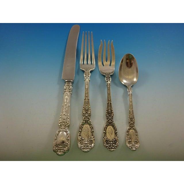 Metal Florentine by Gorham Sterling Silver Flatware Set 12 Service 195 Pcs Dinner For Sale - Image 7 of 13