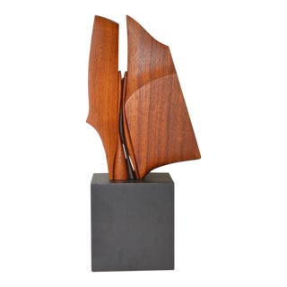 Charles B. Cobb Walnut Sculpture C.1980s For Sale